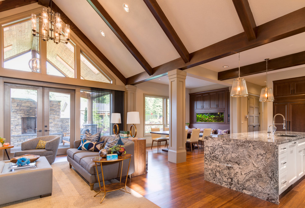 Rafters, Roof Trusses & High Ceiling Lights